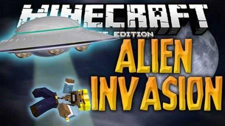 Мод Alien Invasion для Minecraft PE