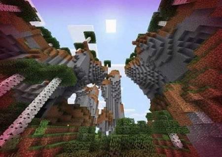 Сид на 2 деревни, алмазы, золото и биом Меса