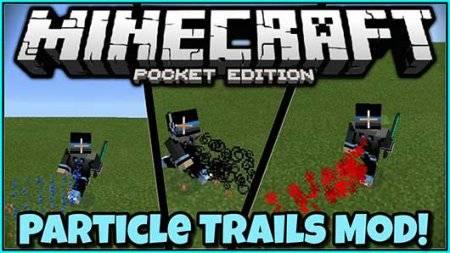 Trails mod - Разноцветные следы для Minecraft PE