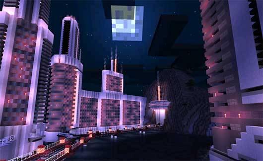 Ender Shader Texture pack для Minecraft PE