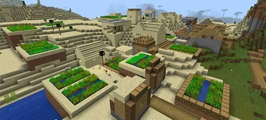 Сид на двойную деревушку в Minecraft PE