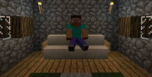 Super Chair Sitter 2000 Mod для Minecraft PE