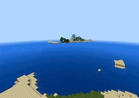 Сид с мини островами для Minecraft PE