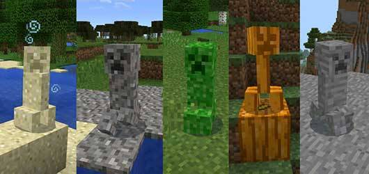 Camouflaged Creeper Mod для Minecraft PE