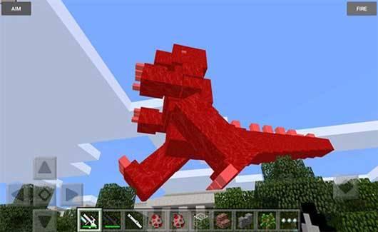 Мод Godzilla - Годзилла в Майнкрафт ПЕ