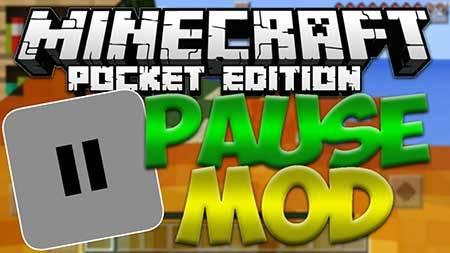 Pause Mod - Пауза в Minecraft PE