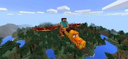 Мод Dragon Mounts — Приручите дракона в Майнкрафт ПЕ