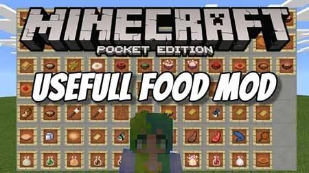 Usefull Food - Новая еда в Майнкрафт ПЕ