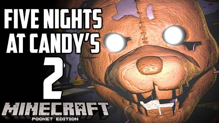 Карта Five Nights at Candy's 2 для Майнкрафт ПЕ