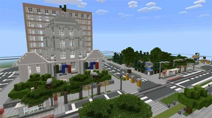Карта город - Glenpoint City для Майнкрафт ПЕ