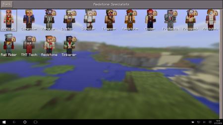 """Скачать скинпак """"Спецы по красному камню"""" для Minecraft PE (redstone specialist skin pack)"""