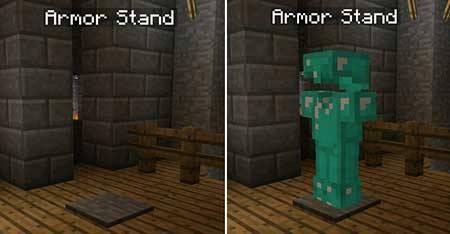 Armor Stand Mod - Стойки для брони в Майнкрафт ПЕ