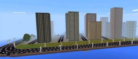 Карта города New Chicago для Minecraft PE