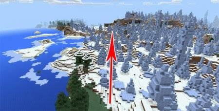 Сид на деревню в биоме Ice Spikes [Равнина ледяных шипов]