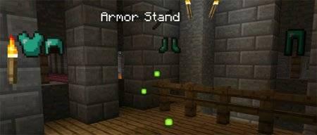 Мод Стенд для брони [Armor Stand Mod] для MCPE