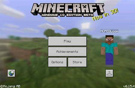 Мод Windows 10 Edition UI для Minecraft PE