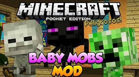 Мод Baby Mobs для Minecraft PE