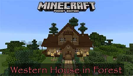 Карта Western House in Forest для Minecraft PE