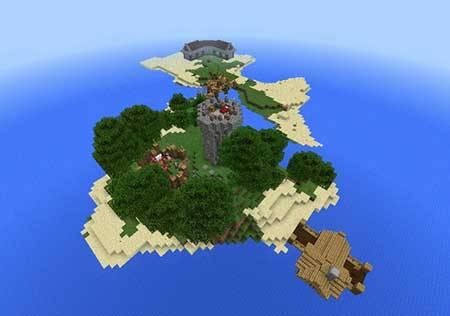 Карта Craftica Island — Остров выживания!