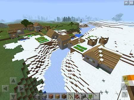 Деревня в зимнем биоме для Minecraft PE 0.16.0 и 0.15.8