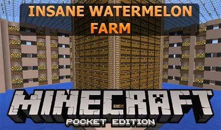 Карта Insane Watermelon Farm для Minecraft PE