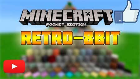 Текстуры Retro 8-bit для Minecraft PE