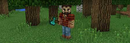 Мод TreeCapitator - Быстрая рубка деревьев в Minecraft PE