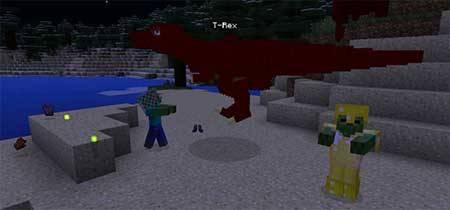 T-Rex mod - Динозавр тирекс в Minecraft PE