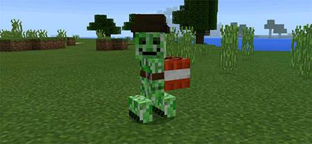 Мод Friendly Creeper для Minecraft PE