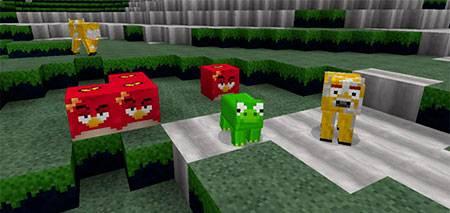 Текстуры Angry Birds для Minecraft PE