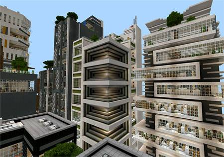 Карта NXUS City – Modern Architecture Series для Minecraft PE