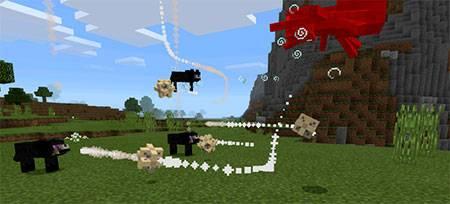 Мод End Wolf для Minecraft PE