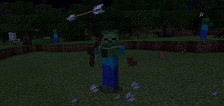 Мод Zombie Archers для Minecraft PE