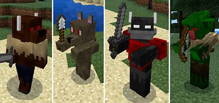Мод Fantasy Creatures Battle для Minecraft PE