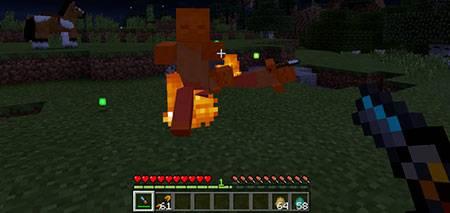 Мод Fireball Gun для Minecraft PE