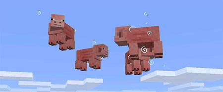 Мод Levitation Potion для Minecraft PE