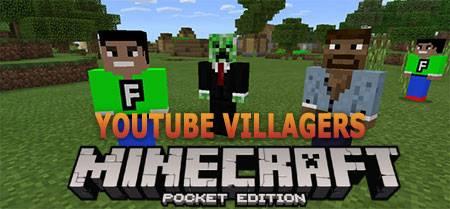 Текстуры YouTube Villagers для Minecraft PE
