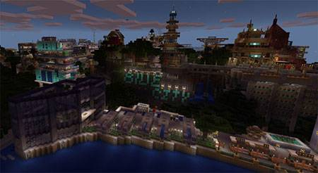 Карта Blue City для Minecraft PE