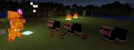 Мод Agent Pig для Minecraft PE