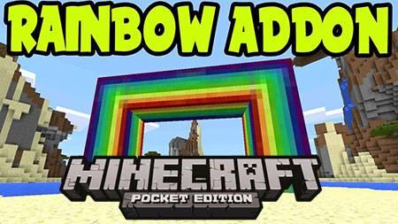Мод Rainbows для Minecraft PE