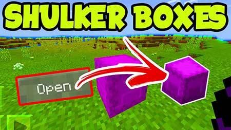 Мод Shulker Boxes для Minecraft PE