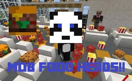 Текстурпак Food Mob Heads для Minecraft PE