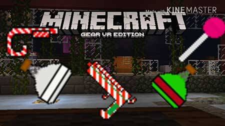 Мод Jimbo's Christmas Weapons для Minecraft PE