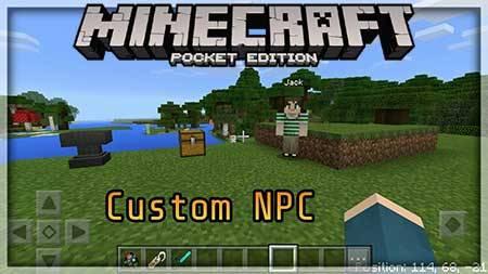Мод Vladu 11's Custom NPC для Minecraft PE