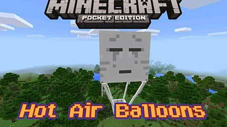 Мод Hot Air Balloon для Minecraft PE