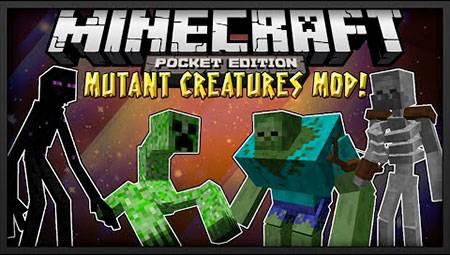 Мод Mutant Creeper для Minecraft PE