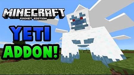 Мод Giant Yeti для Minecraft PE
