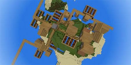 Маленькая деревня на острове mcpe 5