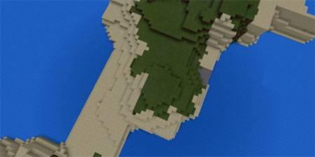 Маленькая деревня на острове mcpe 2