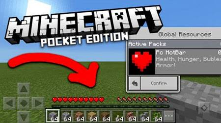 Текстуры PC HotBar для Minecraft PE